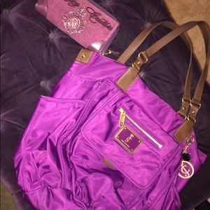 Juicy Couture purple bag and Wallet set